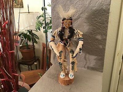 Lot# 1230.  Rare Vintage Native American leather beaded Doll