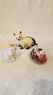 Collection of Vintage Cat Figurines