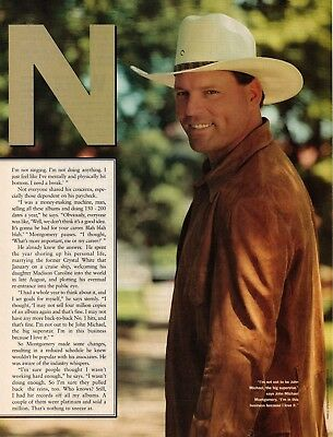 John Michael Montgomery 4 Page 2001 Magazine Article Clipping 3 Pictures