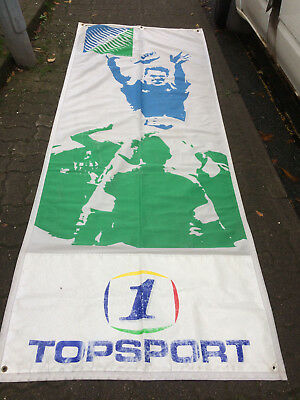 """Large, Original 1986 Rugby World Cup Banner-Flag-Poster 104"""" x 41"""""""