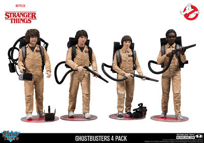 Mcfarlane Stranger Things Ghostbusters 4 Pack Action Figures In Stock