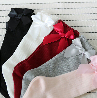 NEW Kids Baby Girls Knee High Long Soft Cotton Warm Tights Socks Warm Stockings