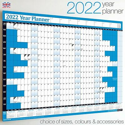 2019 Year Planner Wall Chart+Calendar+Holidays✔Home✔Office ✔WIDEST RANGE ON EBAY