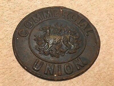 An original Tin Fire Mark issued by The Commercial Union Assurance Company.