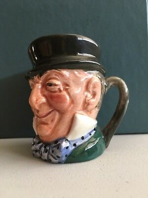 "Vintage Royal Doulton Mr. Micawber 3 1/4"" Toby Jug / Mug - Signed -"