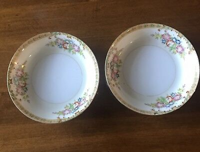 Vintage (1) Hand Painted Bowl / Diamond China/  Made In Japan/ Pre 1938