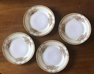 Vintage (1) Hand Painted Desert Plate / Diamond China/  Made In Japan/ Pre 1938