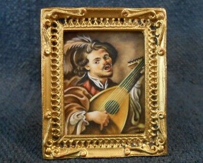 Signed Christopher Whitford Oil Painting 1986 Dollhouse Miniature 1:12