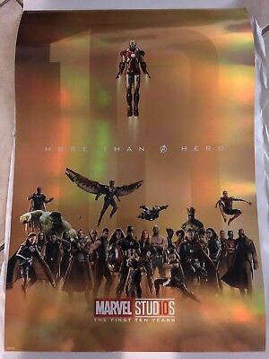 "Marvel Studios' 10th Anniversary ""More Than A Hero"" Gold Poster"
