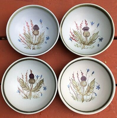 Buchan Thistleware Thistle Scotland Set of 4 Cereal Bowls