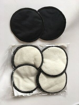 12 Reusable Breast Pads. Bamboo. Black. Clearance