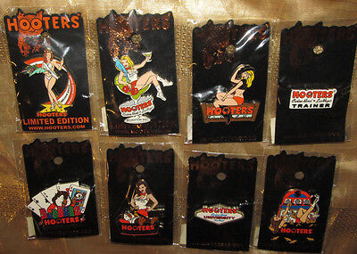 Hooters Girls Pins -7 Lucky Las Vegas & Swimsuit Pageant Winner Pin-2007-All New