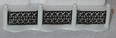 Wrought Iron Fence, 4 Sections, Dickens General Village #59994