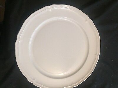Villeroy and Boch Manoir Chop Plate Plate, White Mint