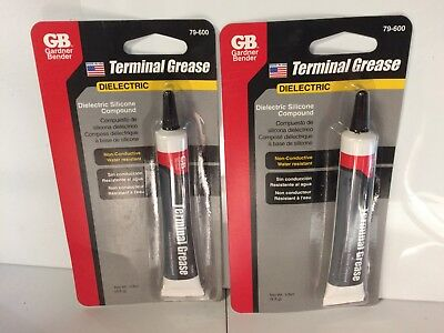 2 TUBES GB  79-600 Terminal Grease Dielectric Silicone Compound 1/3 Oz