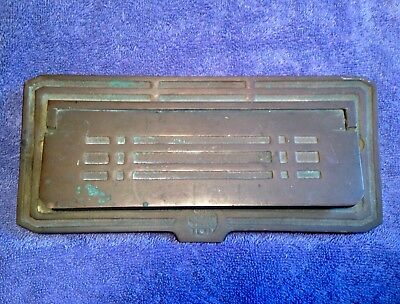 Vintage Deco Arts And Crafts Brass Mail Box Slot American Device Mfg. Nice!