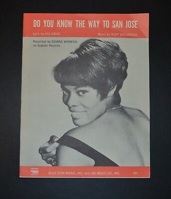 Dionne Warwick sheet music, Do You Know the Way to San Jose