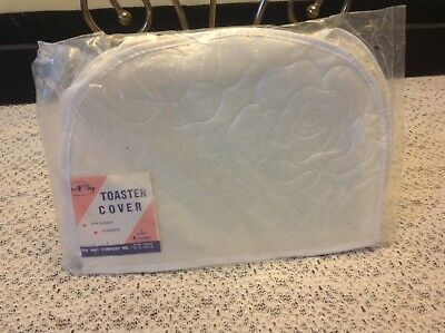 "Vtg Chic ""Dora May"" Toaster cover 50's White Cottage Rose NOS not shabby MIP"