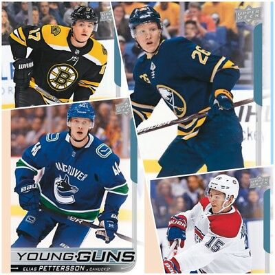 2018-19 Upper Deck Series 1 Young Guns RC Rookie Cards U-PICK Finish your set