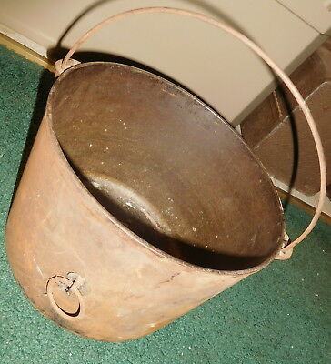 Vintage Antique Cast Iron  Bean Pot Kettle,tilt ring Wagner arch logo ,cowboy