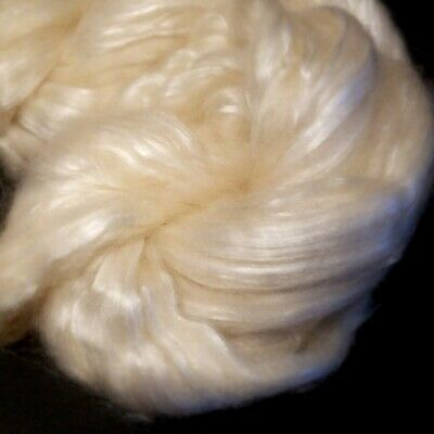 CRAZY Cashmere & Silk 50/50% Combed Top White Spin Luxury Roving super soft