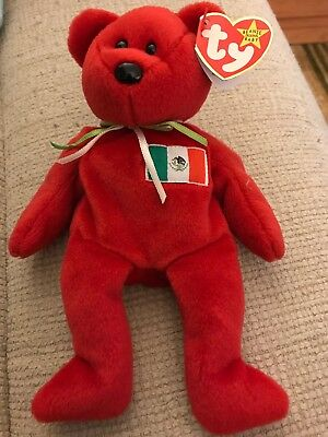 Retired TY beanie Baby Bear Osito 1999 With Tag