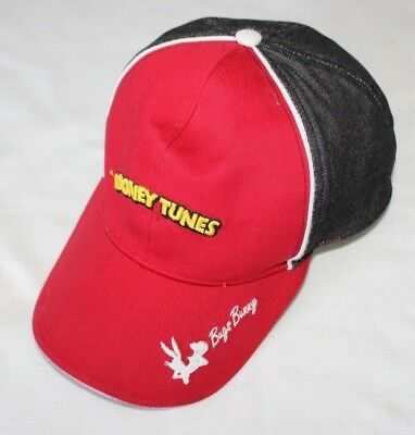 Looney Tunes Bugs Bunny Baseball Hat Cap Red Black White Cute Warner Bros