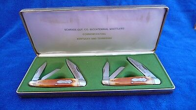"Schrade USA ""Kentucky & Tennessee"" Whittler 8104-Bicentennial-Ltd Edition-1976."