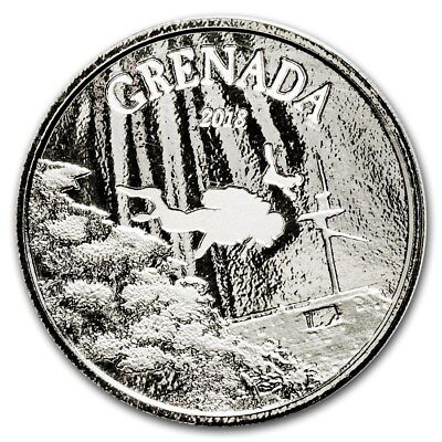 2018 Eastern Caribbean 8 Series Grenada Diving Paradise 1 oz .999 Silver BU Coin
