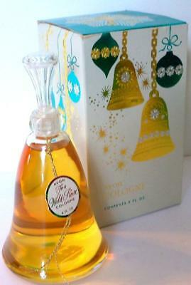 Avon Holiday BELL COLOGNE Vintage Glass Bottle TO A WILD ROSE 4 fl oz 1965 NOS