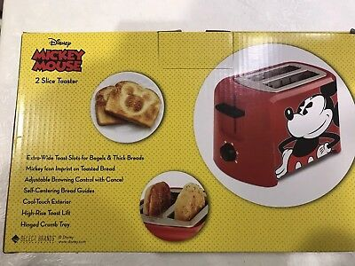 Disney Dcm-21 Mickey Mouse 2 Slice Toaster Red/Black