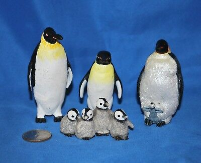 Four Piece Penguin lot by Schleich, Papo & Safari in Very Good Used Condition