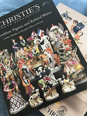 Christie's Two catalogs Staffordshire Figures 1991 and 1996