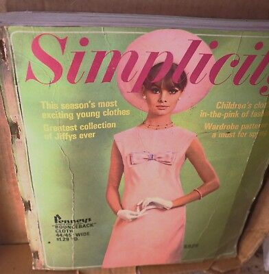 Vintage April 1965 SIMPLICITY Store Counter Pattern Book Fashion Catalog