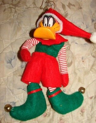 Looney Tunes Warner Brothers Daffy Duck Christmas Ornament Dated 1995
