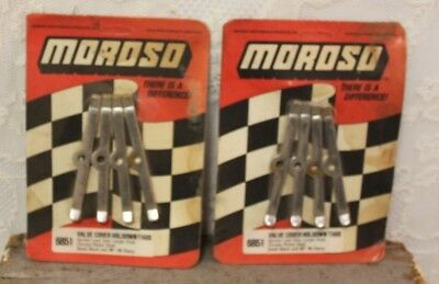 Lot Of 2 NEW Sets Of Vintage Moroso Valve Cover Holdown Tabs # 6851
