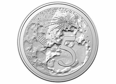 5c five cent coin 2019 - MOON LANDING 50th year - uncirculated X mint set UNC 5