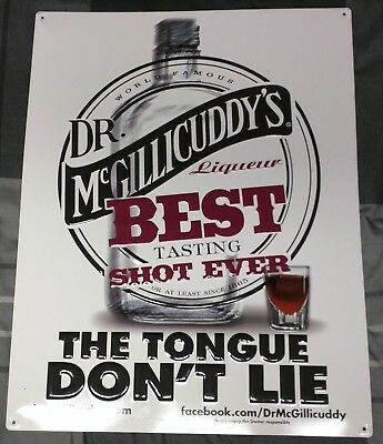 Dr. Mcgillicuddy's Schnapps The Tongue Don't Lie Metal / Tin Sign Bar / Man Cave