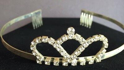 Rhinestone Pageant Tiara Wedding HALLOWEEN Costume Quinceanera Shimmer CROWN!