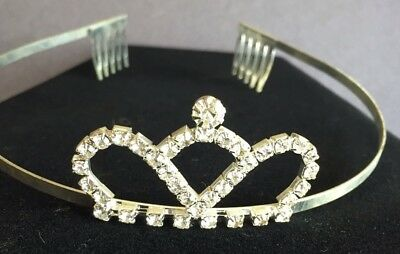 Rhinestone Pageant Tiara Wedding HALLOWEEN Costume Quinceanera Shimmering CROWN