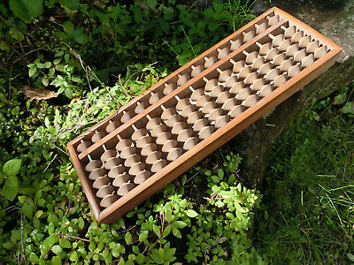 Japan antique Abacus soroban 1+5 used shop old virsion named back Kanji #02
