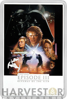 2018 Star Wars: Revenge Of The Sith Poster Coin - 1 Oz. Silver Coin - Ogp Coa