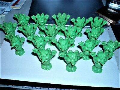 "18 Identical Vintage 60's Miniature Rat Fink Lime Green Only 1-3/4"" Tall"