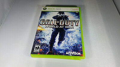 CALL OF DUTY WORLD AT WAR Microsoft Xbox 360 game cartridge 1 one pro