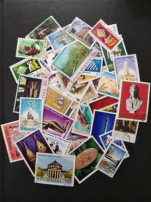 Romania and Hungary - 60 used stamps