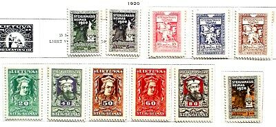 Lithuania 1920 sc 81-91 MNH