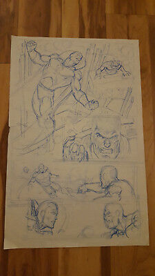 Dave Hoover Marvel What if 36 Cosmic Avengers w/ Vision 1/2 Splash page Original