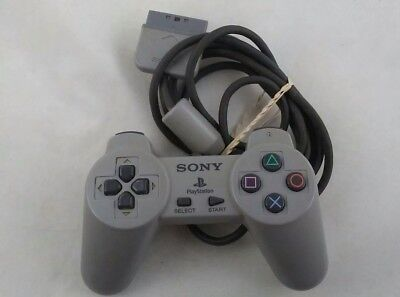 Sony Playstation 1 PS1 Controller Wired Gray Official OEM SCPH-1080 Tested,Works