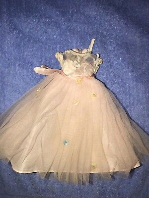 Vintage Madame Alexanderl Lissy doll pink lace dress 6.5""