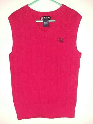 Chaps, Boys Red Sweater Vest Christmas Red, Size 6, Excellent Condition